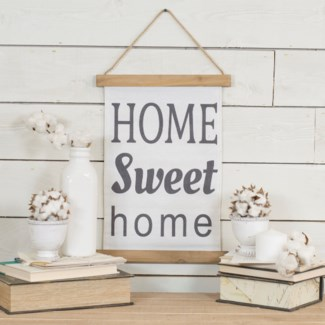 "|HANGING BANNER ""HOME SWEET HOME"" (24/cs)