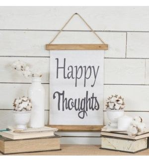 "|HANGING BANNER ""HAPPY THOUGHTS""
