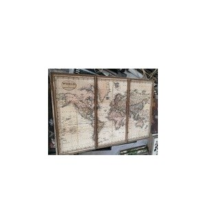 |WD. 3 PC. WORLD MAP|