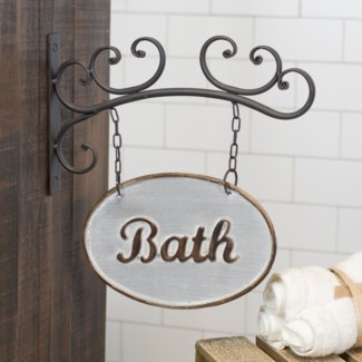 MTL. BATH SIGN (8/cs)