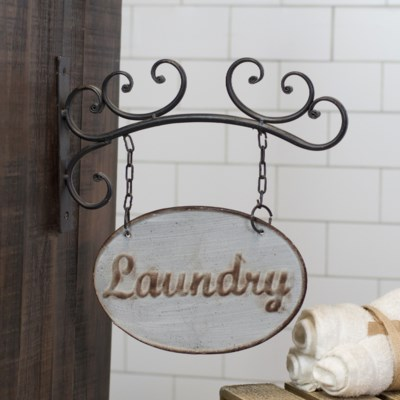 MTL. LAUNDRY SIGN (8/cs)