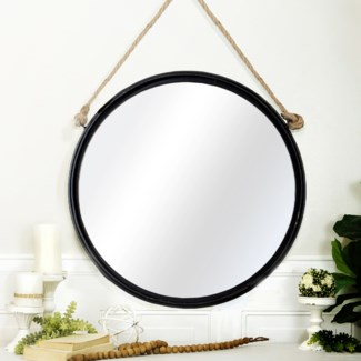 MTL. ROUND HANGING MIRROR (2/cs)