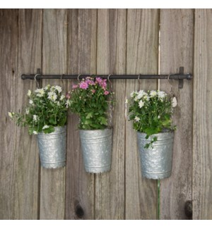 |MTL. HANGING PLANTER BUCKETS|