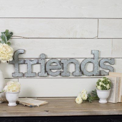 "|MTL. WALL WORDS ""FRIENDS"" (8/cs)|"