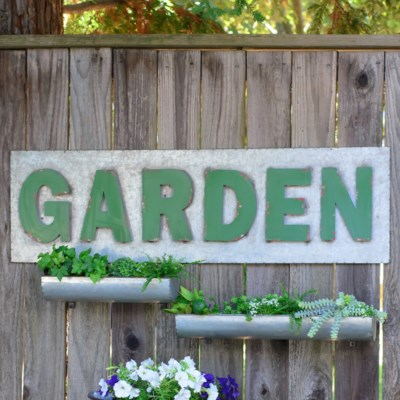 "|MTL. ""GARDEN"" SIGN (2/cs)
