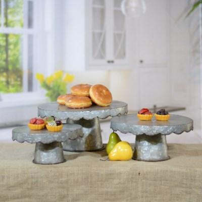 MTL. CAKE STAND S/3 (1/cs)
