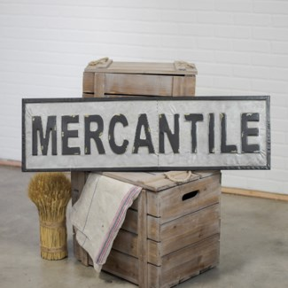 "MTL. WORD ART ""MERCANTILE"" (2/cs)"