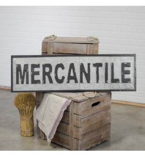 "|MTL. WORD ART ""MERCANTILE""