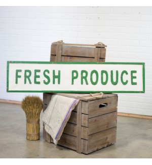 "|MTL. WORD ART ""FRESH PRODUCE""