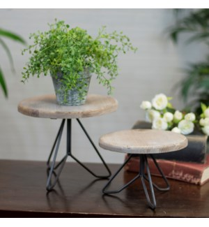 WD./MTL. PLANT STAND SET/2