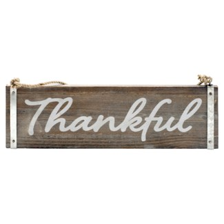"|WD. WORD ART ""THANKFUL"" (8/cs)