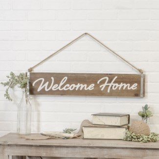 "|WD. WORD ART ""WELCOME HOME"" (8/cs)