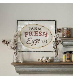"MTL. SIGN ""FRESH EGGS"""