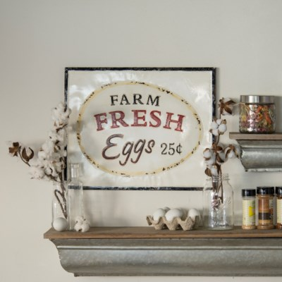 "MTL. SIGN ""FRESH EGGS"" (6/cs)"