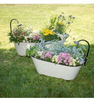 |MTL. BATHTUB PLANTER SET/2|