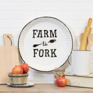 "|MTL. SIGN ""FARM TO FORK"" (6/cs)