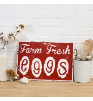 "|MTL. SIGN ""FRESH EGGS""