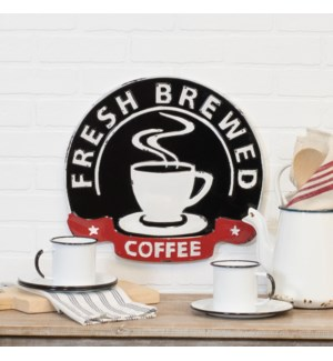 "MTL. SIGN ""FRESH BREWED"""