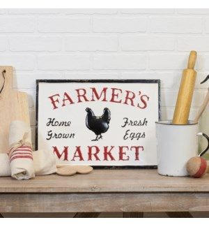 "|MTL. SIGN ""FARMERS MARKET""