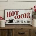"""MTL. SIGN """"HOT COCOA"""" (8/cs)"""
