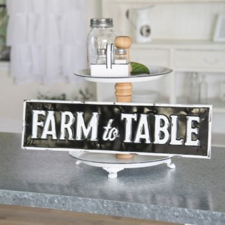 "MTL. SIGN ""FARM TO TABLE"" (6/cs)"