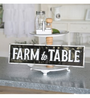 "|MTL. SIGN ""FARM TO TABLE""