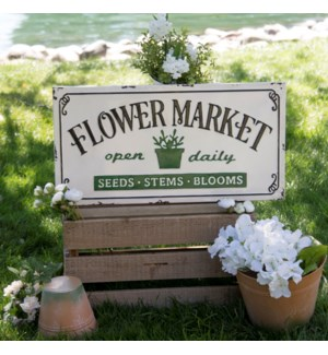 "MTL. SIGN ""FLOWER MARKET"""