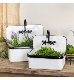 MTL. SINK PLANTERS S/2