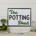 "MTL. SIGN ""POTTING SHED"" (12/cs)"
