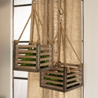 WD. HANGING CRATES S/2 (1/cs)