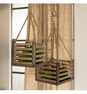 WD. HANGING CRATES S/2