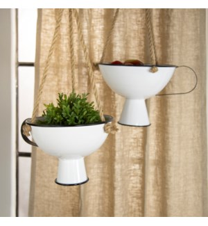|MTL. HANGING PLANTERS S/2|