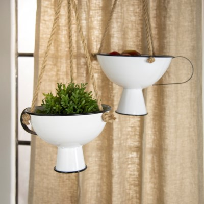MTL. HANGING PLANTERS S/2 (1/cs) (Available March  2019)