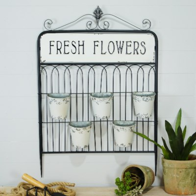 MTL. FLOWER PLANTER (1/cs) (Available March  2019)