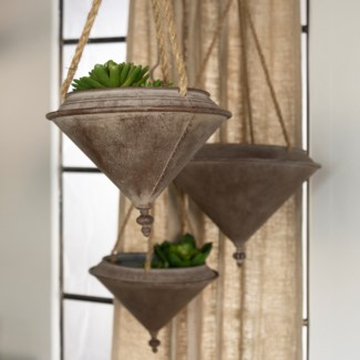 MTL. HANGING PLANTERS S/3 (1/cs) (Available March  2019)