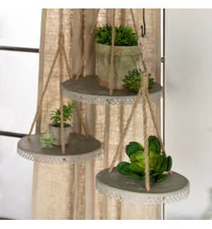 |MTL. HANGING PLANTERS S/3|