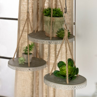 MTL. HANGING PLANTERS S/3 (4/cs) (Available March  2019)