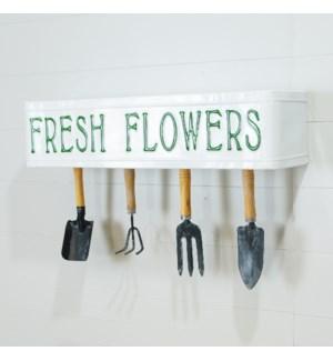 "MTL. SHELF ""FRESH FLOWERS"""