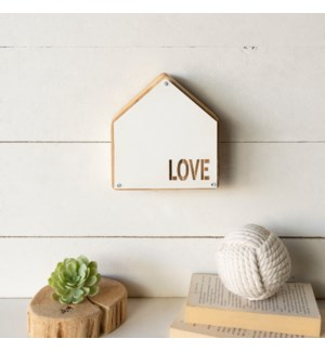 "MTL./WD. TABLETOP SIGN ""LOVE"""