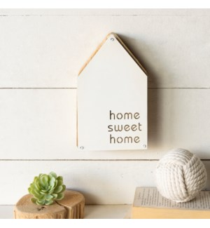 "MTL./WD. TABLETOP SIGN ""HOME"""