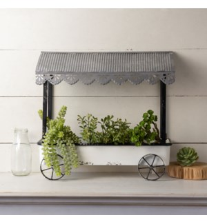 |MTL. FLOWER CART PLANTER|