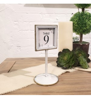 MTL. PLACE CARD HOLDER ON STAND