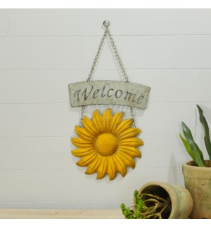 MTL. SUNFLOWER WELCOME SIGN