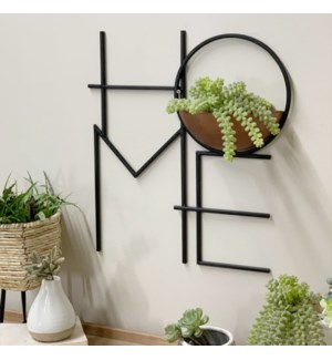 "MTL. ""HOME"" PLANTER"