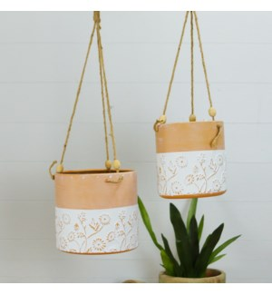 MTL. HANGING PLANTERS S/2