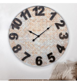 WD. WEAVED BAMBOO CLOCK