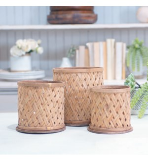 BAMBOO FLOWER POT - S/3