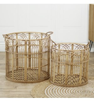 BAMBOO BASKETS S/2