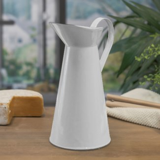 MTL. ENAMELWARE PITCHER WHT (12/cs)