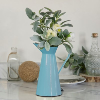 MTL. ENAMELWARE PITCHER BLUE